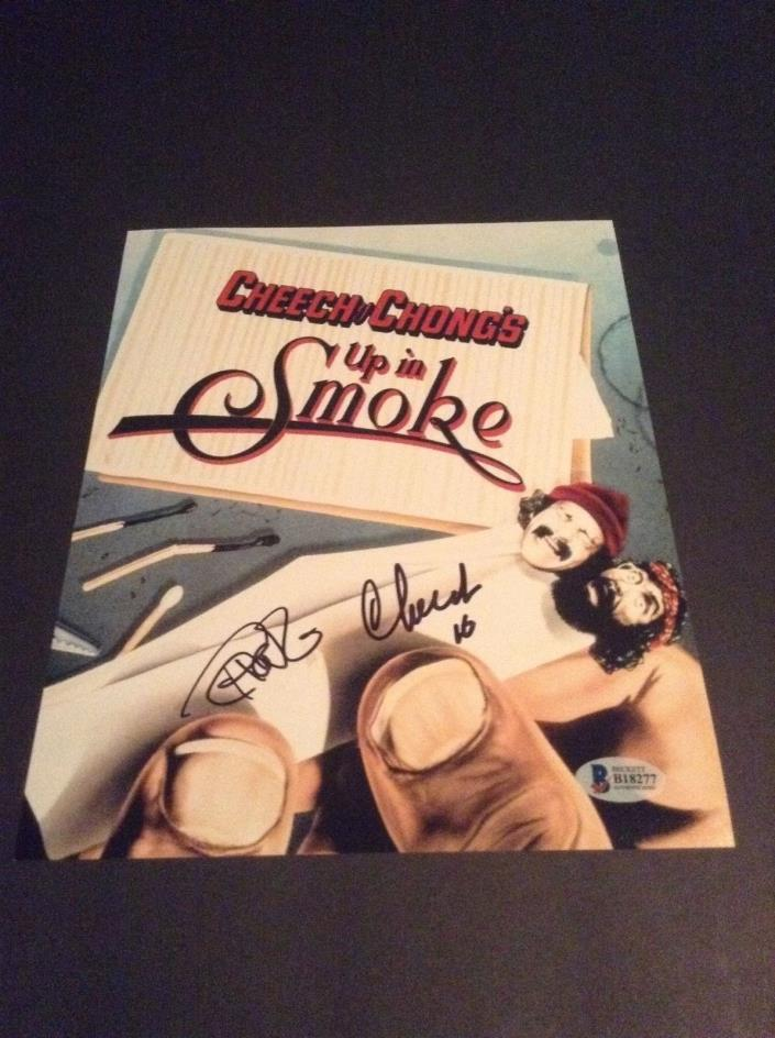 Cheech Marin & Tommy Chong autograph 8x10 photo Beckett Authentic Up in Smoke