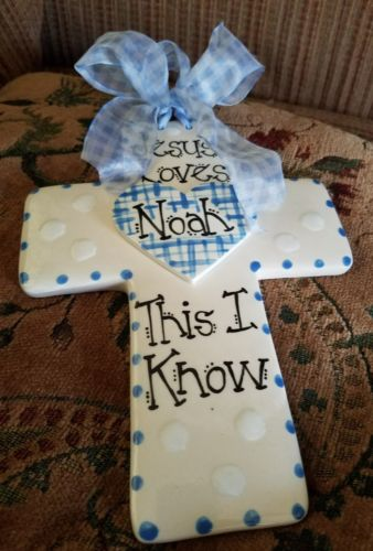 caramic baby cross Noah