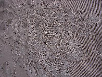 Vintage 30s 40s Fabric Upholstery Floral Damask  2.5 yards Lt Beige