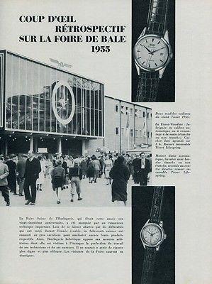 Swiss Watch Fair 1955 Rolex Breitling Jaeger-LeCoultre Ernest Borel Suisse Basel