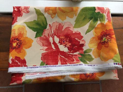 Outdoor Fabric Solarium Muree Floral Richloom Watercolor 6 yd