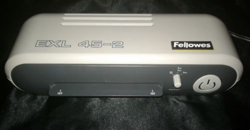 Fellowes EXL 45-2 Pouch Laminator Hot or Cold