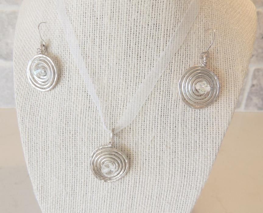 LOT of Sterling Silver Spiral Necklaces & Earrings - Mixed Sets