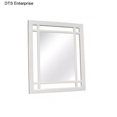 Bedroom Mirror Bath Room Decor Wall Home Mounted Vanity White Foyer Framed