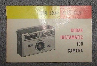 Kodak Instamatic 100 Owners Manual