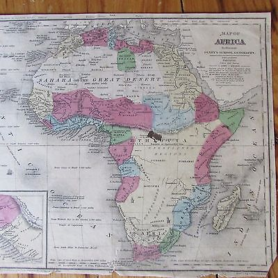 olneys school geography africa vintage maps