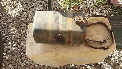 SEARS SUBURBAN SS14 LAWN TRACTOR PARTS CLEAN GAS TANK WITH THE  BRACKETS