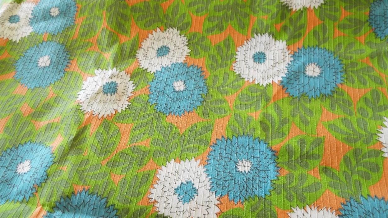 Jim Thompson Thai Silk Fabric Brown Multi Geometrical Print 2.52 Yards