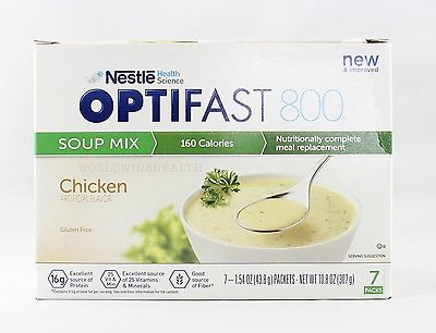 NEW FORMULA | OPTIFAST 800 MEAL REPLACEMENT SOUP |  Chicken Soup | 6 boxes