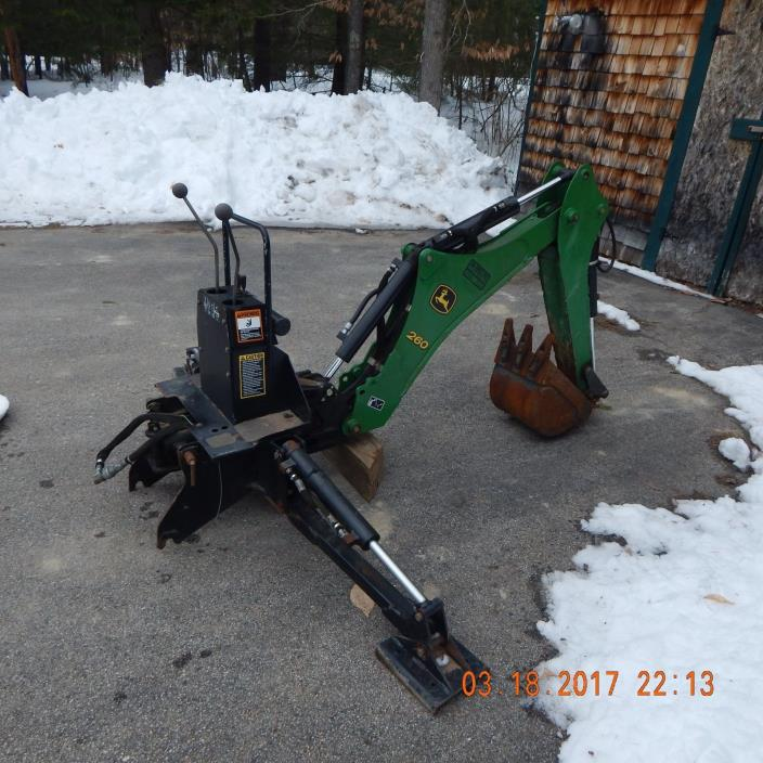 John Deere 260 backhoe attachment