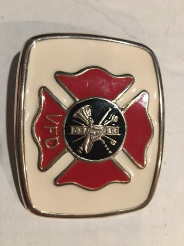 Vintage NOS VFD Volunteer Fire Department Fireman Belt Buckle Baked Enamel ?