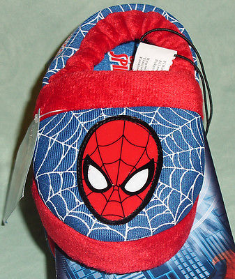 Marvel Ultimate Spider-Man Slippers Toddler Boys 7/8 New NWT