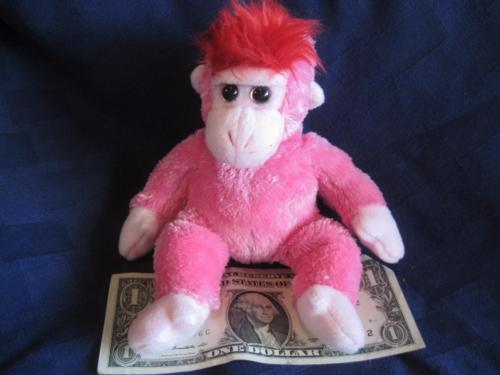 Ty Beanie Baby CHARMER the Pink Monkey Stuffed Animal Toy