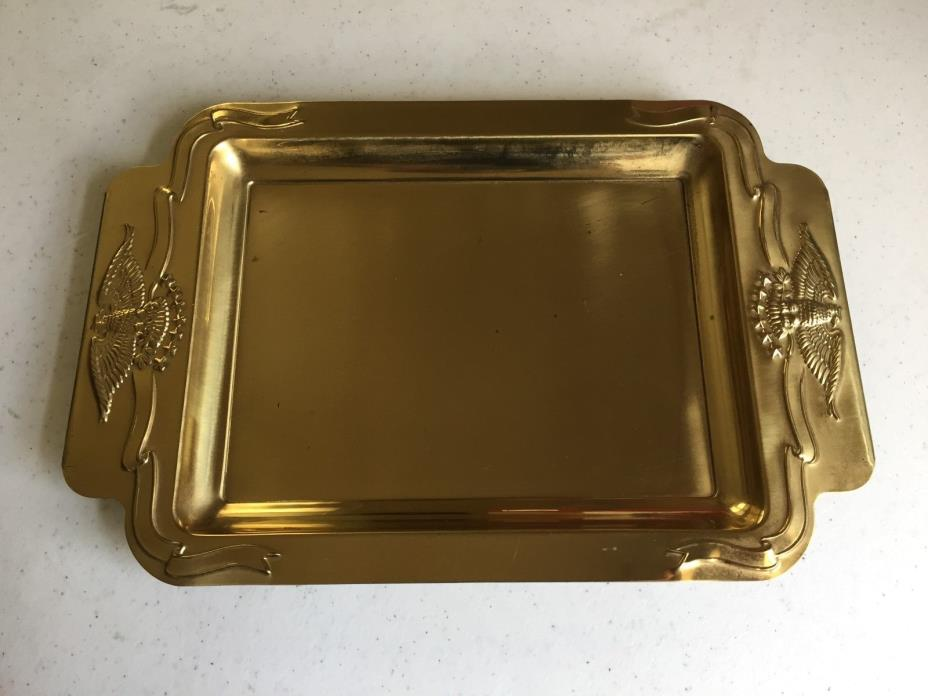 Hallmark Solid Brass Tray with Eagle Handles