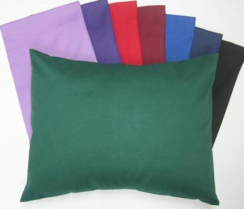SheetWorld Comfy Travel Pillow Case - 100% Soft Cotton Percale - Black - Made In