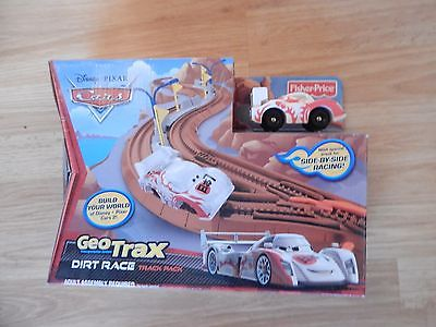 FISHER PRICE GEOTRAX DISNEY CARS  DIRT RACE TRACK PACK with large curves