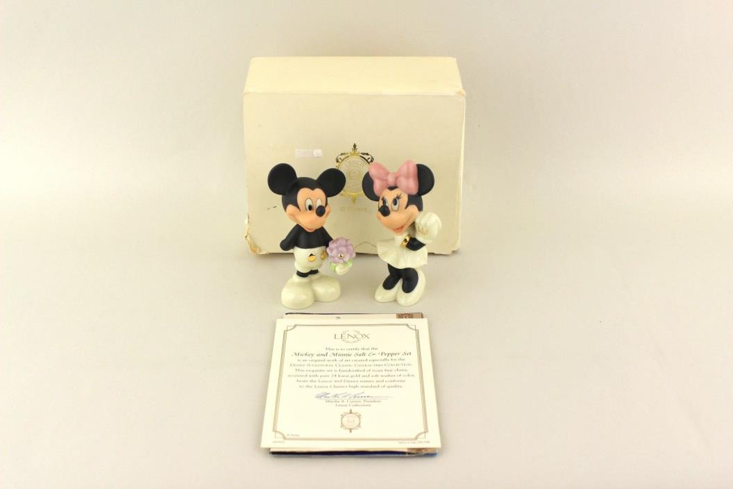 Disney Mickey & Minnie Mouse Sweethearts Salt & Pepper Shakers by Lenox