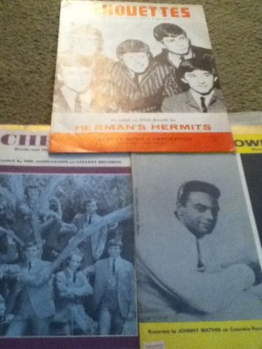 Music Sheet Booklet Lot 3 Midnight Cowboy,cherish, Herman Hermits