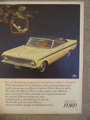 VINTAGE 1965 FORD FALCON CONVERTIBLE AD-NOT A REPRODUCTION