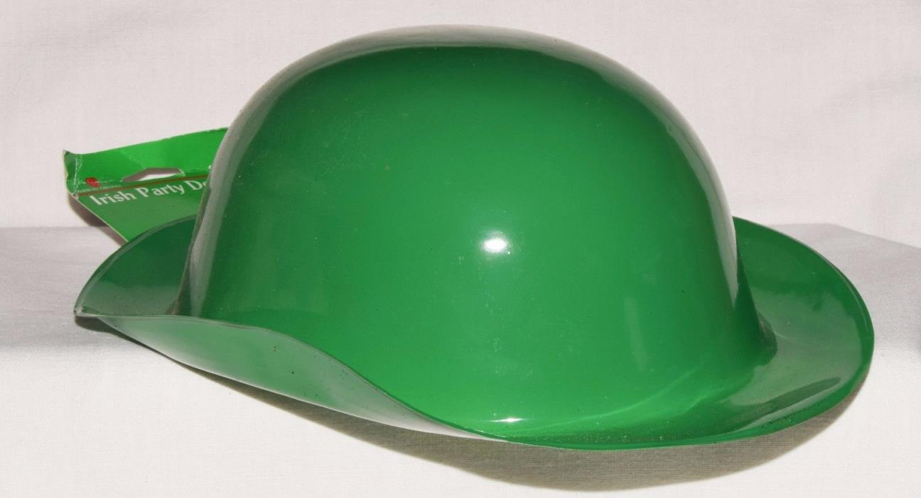 ST. PATRICK'S DAY Derby Plastic HAt 1980's