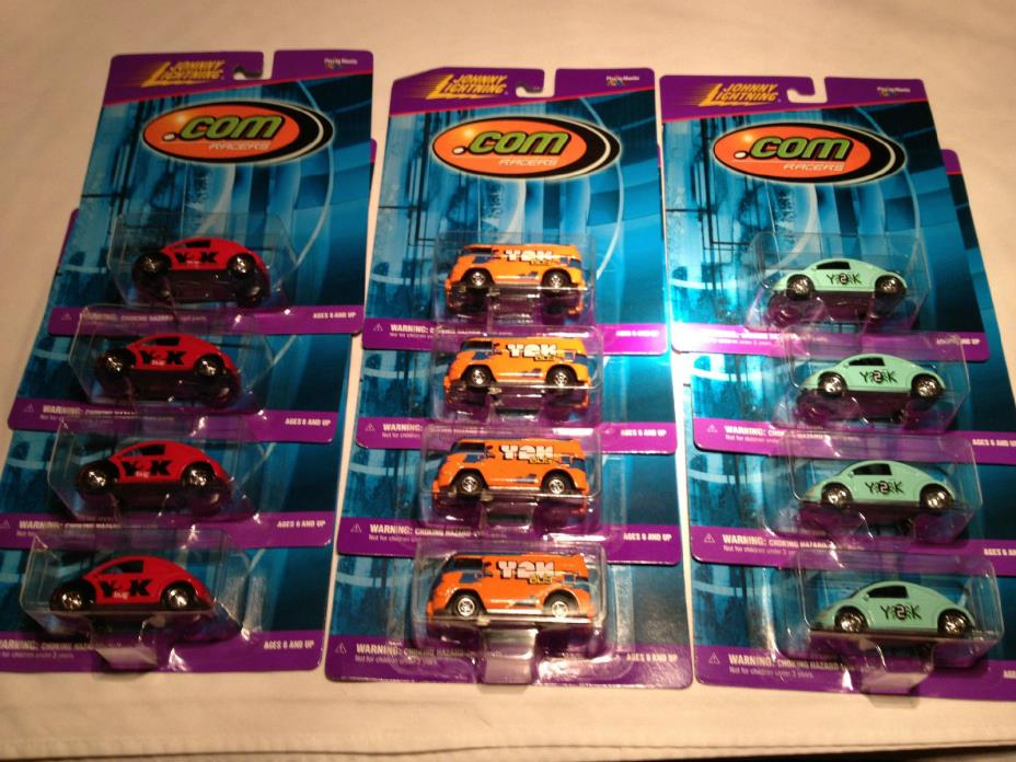 Johnny Lightning VW Volkswagen SET Y2K .com Samba BUS New Beetle Kafer NEW pkg