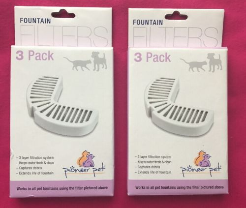 Pioneer Raindrop Fountain Filters Combo Pack (6 filters) New 2 - 3 Packs