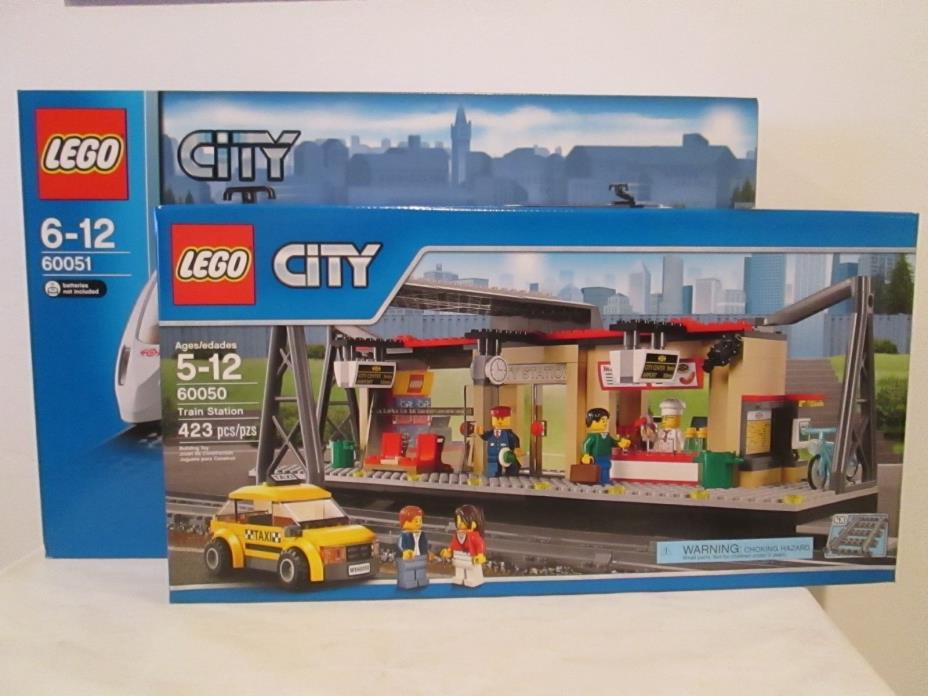 Lego City 2 set lot of 60051 Passenger Train & 60050 Train Station *BRAND NEW!*