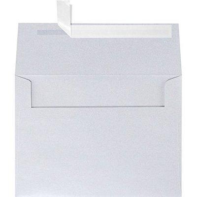A6 Greeting Card Envelopes Invitation Envelopes (4 34 x 6 12) - Silver Metallic
