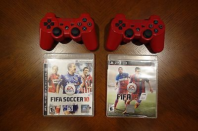 PlayStation 3 (2) DualShock 3 Controllers + (2) FIFA 15 & 10 | Great Cond