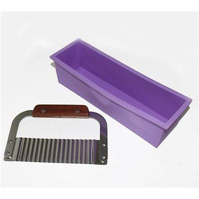 NEW Pro. Soap Silicone Mold Loaf Wavy Stainless Steel Soap Cutter Slicer Makes