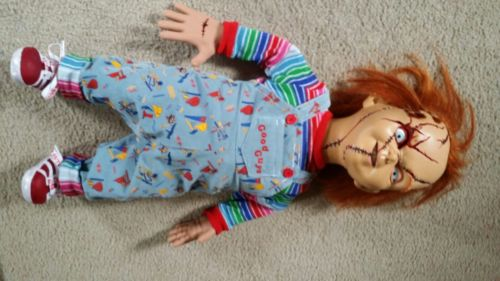 chucky. good. guy. doll. Rubber body. seed style. stitched