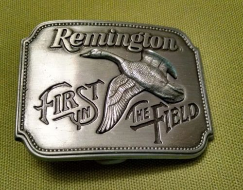 Pewter Belt Buckle by Remington featuring Canada Goose