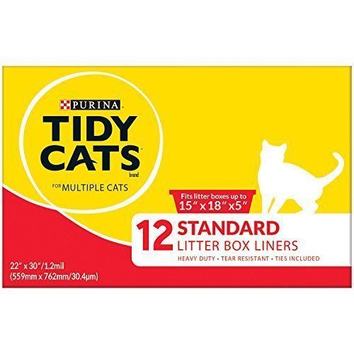 Purina Tidy Cats 15 X 18 X 5  Litter Box Liners 12 ct. Box 9.75 FREE SHIPPING