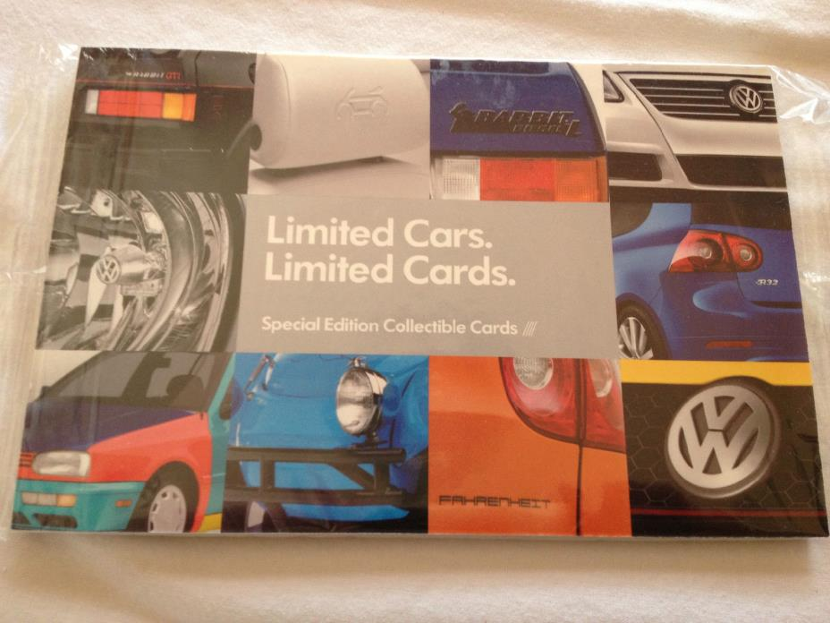 VW Volkswagen official Special Edition Collectible Cards Limited RARE SET SEALED