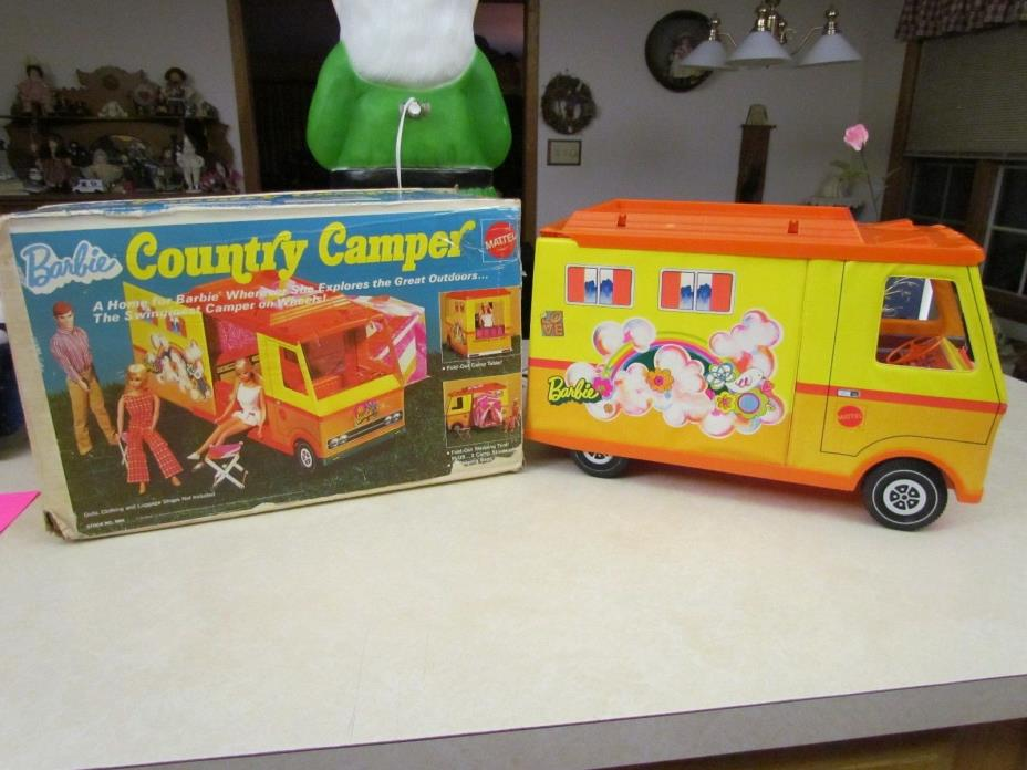 Vintage 1970 Mattel Barbie Country Camper in Original Box ~ Incomplete