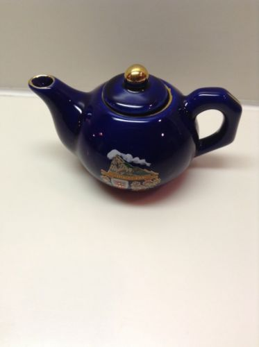 Vintage Miniture Cobalt Blue Gibraltar Teapot