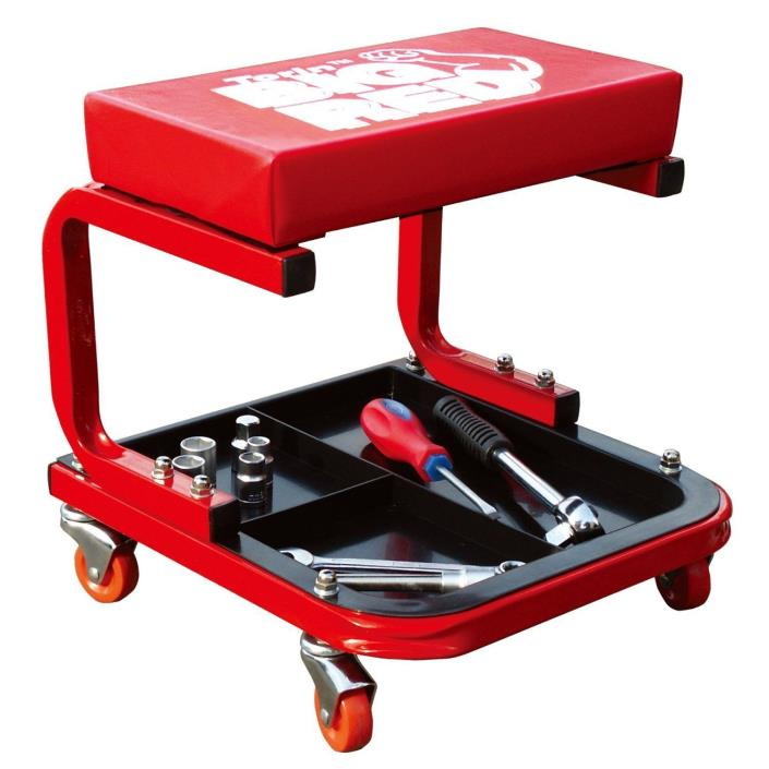 Mechanics Creeper Rolling Seat Stool Tools Tray Chair Garage Work Auto Car Shop