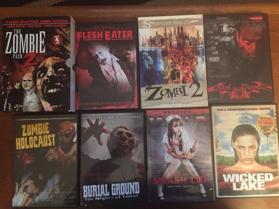 Shriek Show DVD LOT Zombi 2 Zombie Pack Burial Ground Holocaust Flesh Eater