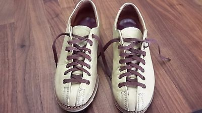 Vintage Hyde Flexible Goodyear Welt Leather Bowling Shoes Size 4.5 Union-Made