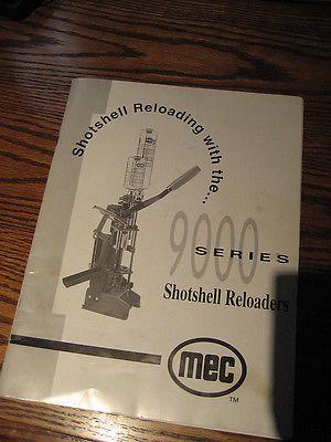 MEC 9000 SHOTSHELL RELOADER  INSTRUCTION MANUAL--ORIGINAL
