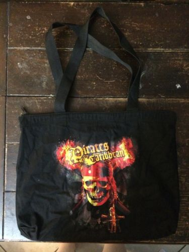 Disney's PIRATES OF THE CARIBBEAN DEAD MAN'S CHEST Black Shoulder Bag Purse Tote