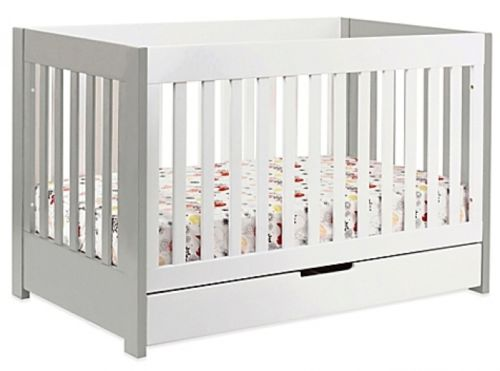 Babyletto Mercer Modern 3-in-1 Baby Infant Toddler Convertible Crib with Drawer