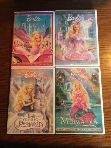 4 DVD Barbie Movie Lot