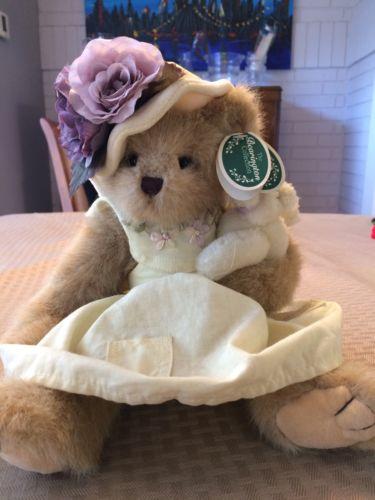 New W/Tags The Bearington Collection Bear Plush Gracie & Lacie Stuffed