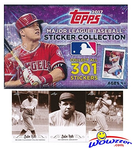 2017 Topps MLB Baseball Stickers MASSIVE Factory Sealed 50 Pack Box with 400