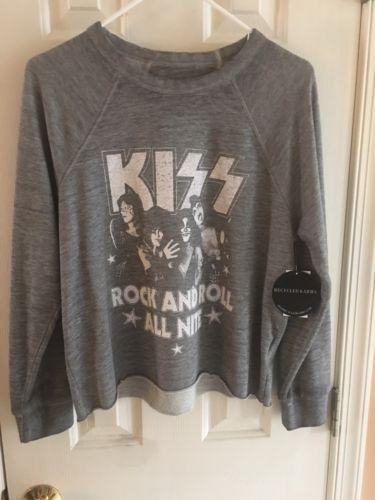 KISS Womens Longsleeve Shirt Large Gray