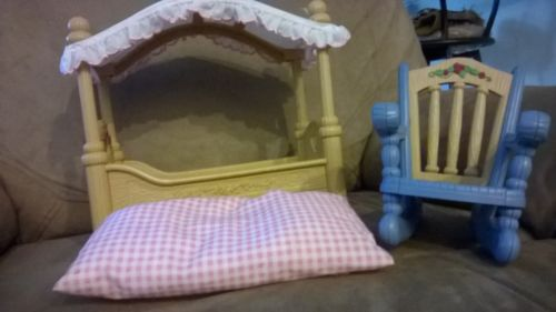 Fisher price Doll bed with mattress and Rocking chair