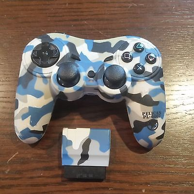 Pelican PL 6607 Blue Camo Playstation 2 Wireless Controller Tested