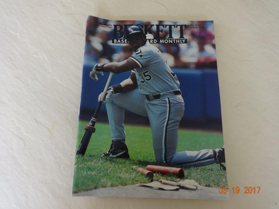 Beckett Baseball Card Monthly # 106 Frank Thomas/ Nolan Ryan