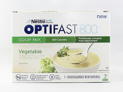 NEW FORMULA | OPTIFAST 800 MEAL REPLACEMENT SOUP |  VEGETABLE SOUP | 6 BOXES